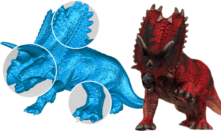 Triceratops high definition 3D models